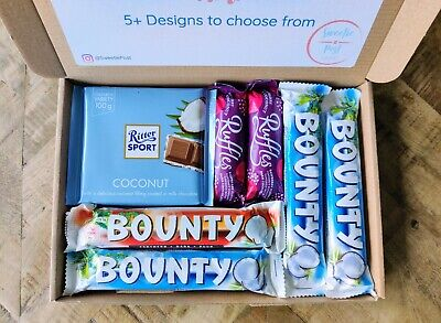 Coconut Chocolate Bounty Gift Box Hamper Present Dairy Milk Coconut Nutty Ruffle • 10.99£