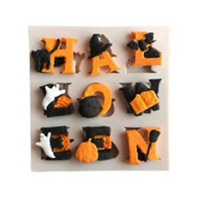 £4.25 • Buy Halloween Letters Figures Alphabet Cake Decorating Icing Chocolate Mould