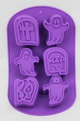 Halloween Ghost RIP Grave Stone X6 Cake Cupcake Decorating Icing Chocolate Mould • 4.99£