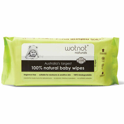 AU5.99 • Buy Wotnot All Natural Baby Wipes 70 Pack Online Only