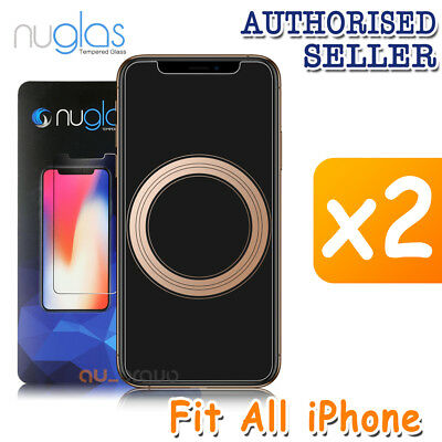 AU7.89 • Buy 2x NUGLAS Tempered Glass Screen Protector For Apple IPhone XS Max XR 8 Plus