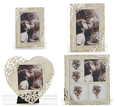 £10.50 • Buy Old Cream Vintage Lace Ornate Rustic Metal Photo Frames - Various Sizes