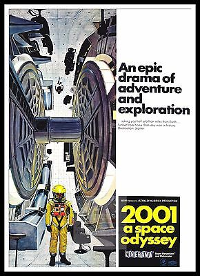 £26.99 • Buy 2001 A Space Odyssey 2   Poster Greatest Movies Classic & Vintage Films