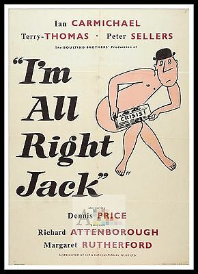 £15.99 • Buy I'm All Right Jack     British Movie Posters Classic & Vintage  Films