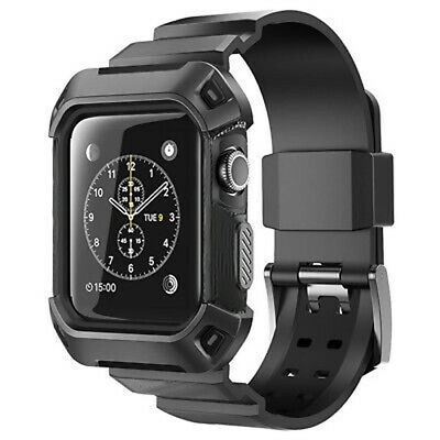 AU11.99 • Buy Heavy Duty Tough Armor IWatch Case Strap Band For Apple Watch Sport Series 3 2 1