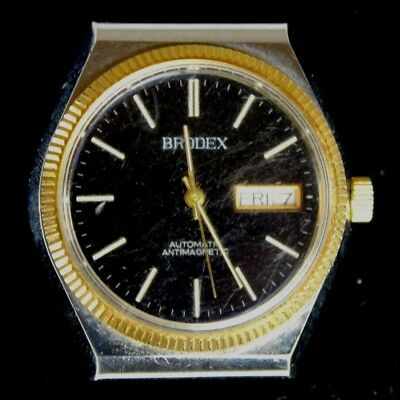 $ CDN18.78 • Buy Vintage BRODEX Watch Automatic AntiMagnetic Day Date PARTS / REPAIR