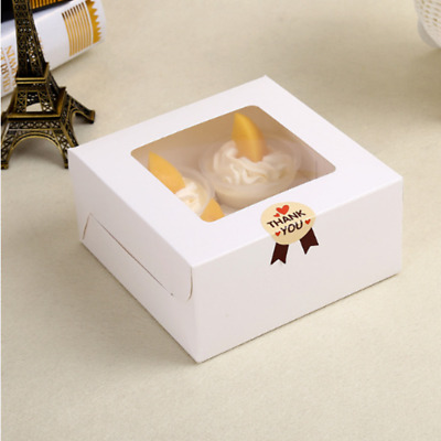 AU20.55 • Buy 25/50Pcs 2/4/12Holes Muffin Packing Paper White Cupcake Box Wedding Party Favor