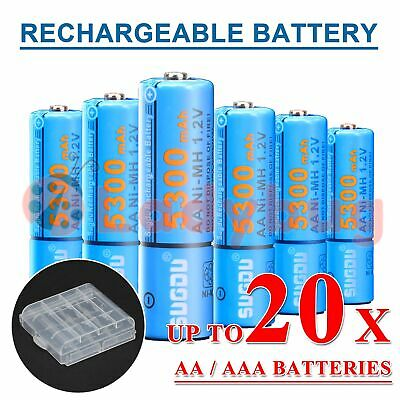 AU11.50 • Buy AA AAA Rechargeable Battery Recharge Batteries 4-20pcs 1.2V Ni-MH
