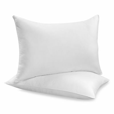 £5.95 • Buy Pack Of 2 Pillows, Luxury Bounce Back Hollow Fiber Filling Pillow Pair