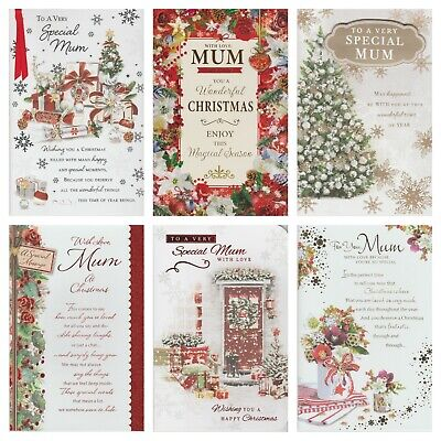 Mum Christmas Card ~ With Love Mum ~ For You Mum ~ Choice Of Design • 2.19£