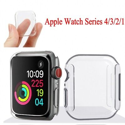 $ CDN1.79 • Buy Apple Watch Series 4 3 2 Clear Case Full Cover Screen Protector  IWatch 40/44MM