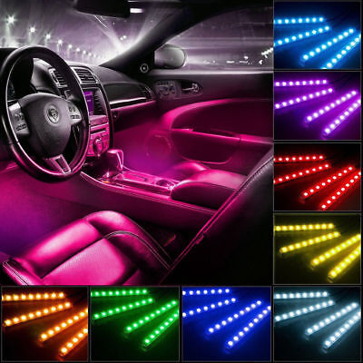 $12.99 • Buy RGB LED Car Interior Accessories Floor Decorative Atmosphere Strip Lamp Lights
