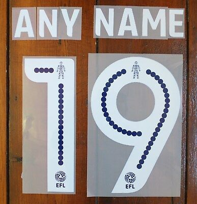$12.52 • Buy Sporting Id EFL Football League Shirt Name & Number Printing Set  WHITE & BLUE