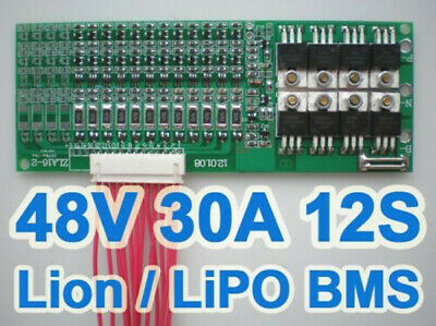 44V 48V 50.4V 12S 30A Li2MnO4 Ion Li-ion LiPo Li-Polymer Battery BMS PCB System  • 30.73£