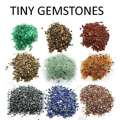 Mini Chips Tiny Gemstones Polished Natural 200 Pieces Healing Semi Precious • 4.95£