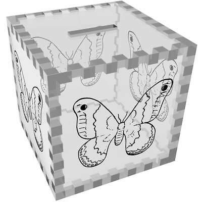 'Big Wing Butterfly' Clear Money Box / Piggy Bank (MB00019002) • 16.99£