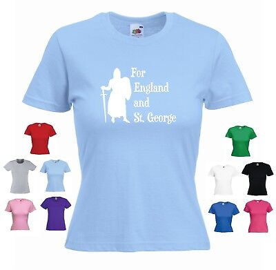 £9.99 • Buy 'For England And St. George' Women's St George's Georges Day England T-shirt Tee