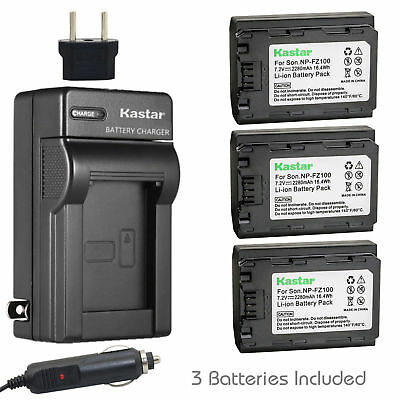 $ CDN83.77 • Buy NP-FZ100 Battery & Charger For Sony Alpha 9R, A9S, A7R III, A7R3, A7 III, 7 III