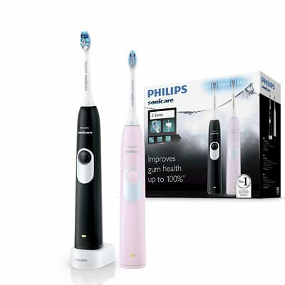 AU159.99 • Buy Philips Sonicare 2 Series Rechargeable Electric Toothbrush 2-handle Pack Pink/Bl