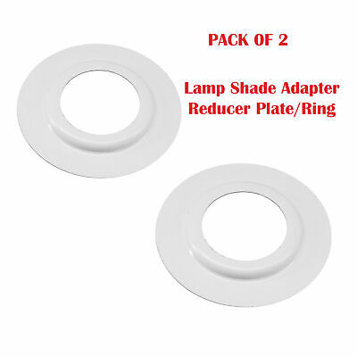 2 X Lamp Shade Adapter Reducer Plate / Washer / Ring Made From Metal ES To BC • 1.79£