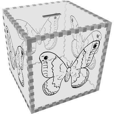 Large 'Big Wing Butterfly' Clear Money Box / Piggy Bank (MB00019003) • 19.99£