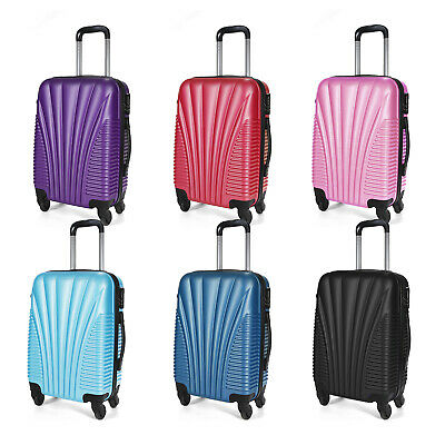 Hard Shell Cabin Suitcase Trolley Case 4 Wheel Luggage Spinner Ultra Lightweight • 16.95£