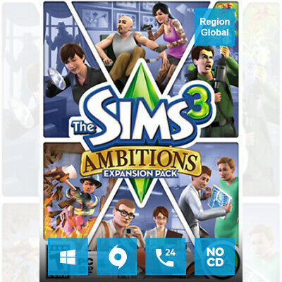 The Sims 3 Ambitions Expansion Pack DLC For PC Game Origin Key Region Free • 13.83£