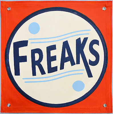 £39.11 • Buy Authentic Freak Sideshow Banner Hand Painted,gaff