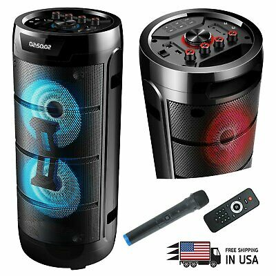 $109.99 • Buy EMB 1000 Watts Rechargeable PARTY PA DJ Speaker W/ Light, MIC,  USB , Bluetooth