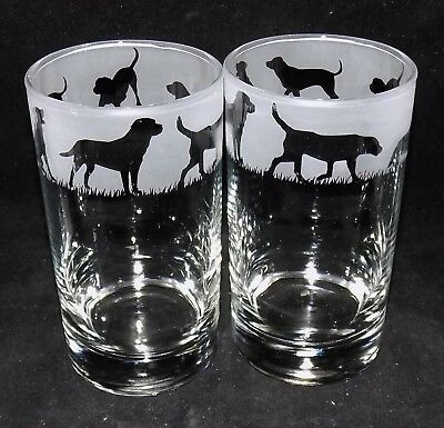 £19.99 • Buy New Etched  LABRADOR  Hiball Glasses - Beautiful Gift Or To Keep - Free Gift Box