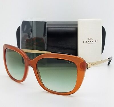 99a202f01aa99 New Coach Sunglasses HC8229 55028E 55mm Amber Gold Gradient Brown 8229  AUTHENTIC • 58.49