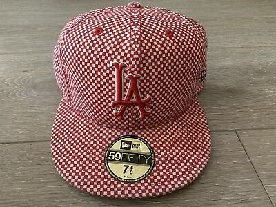 $ CDN106.76 • Buy Supreme New York New Era Hat 7 5/8 Checkered Red White Camp Cap Rare Vtg Japan