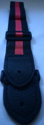 Guitar Strap Classic Red Black Ideal Children Kids UK Small Size Boys Girls • 2.99£