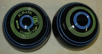 £55 • Buy Excellent Pair Of ALMARK CLUBMASTER Short-Mat Bowls   Size 5