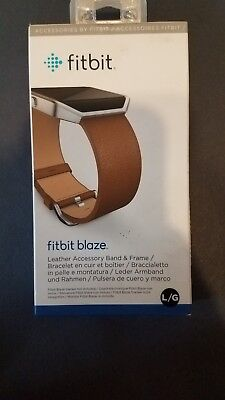 $ CDN34.34 • Buy Fitbit Blaze Leather Accessory Band Camel Brown With Stainless Steel Frame. L/G