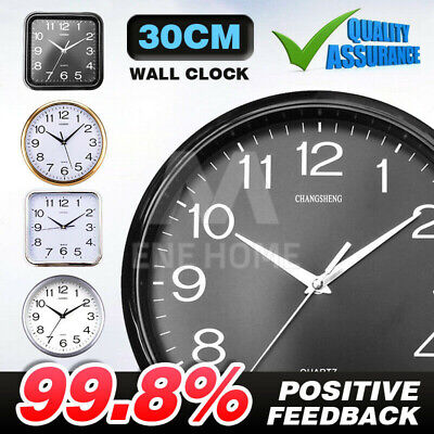 AU14.81 • Buy Wall Clock Quartz Round Wall Clock Silent Non Ticking Battery Operated 12 Inch