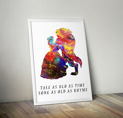 £5.25 • Buy Beauty And The Beast Print, Poster, Disney, Wall Art, Gift, Belle, Princess