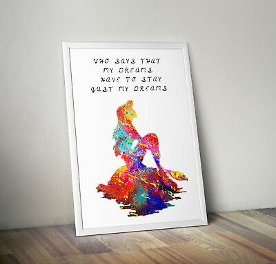 The Little Mermaid Inspired Print, Poster, Disney, Quote, Wall Art, Ariel • 5.99£