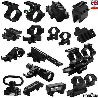 Tactical Rifle Hunting Scope Mount Adapter 20mm Weaver Picatinny Rail Airsoft UK • 5.95£