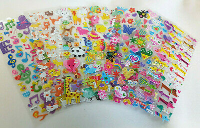 Various Designs Childrens Puffy 3D Stickers: Zoo Animals, Fish Craft Scrap Books • 2.25£