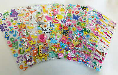 £2.25 • Buy Various Designs Childrens Puffy 3D Stickers: Zoo Animals, Fish Craft Scrap Books