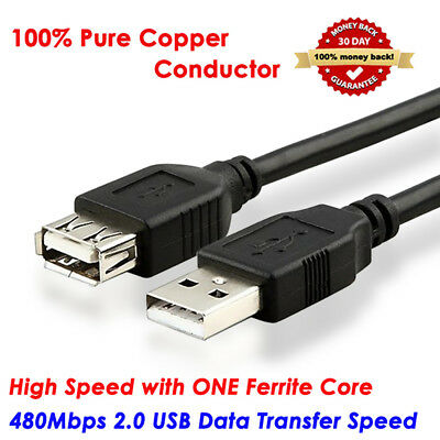 AU7.85 • Buy 1M-10M Ultra Speed USB Extension Cable USB 2.0 Male To Female Data Sync Cord Lot