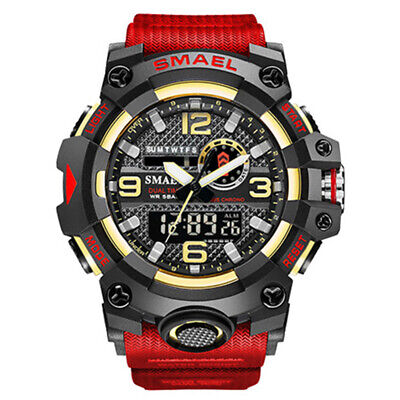 $ CDN16.37 • Buy SMAEL Men Watch Military Sport DIgital Wristwatch Shockproof Quartz LED Watches