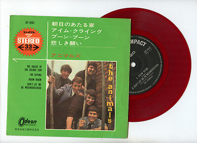 £13.04 • Buy THE ANIMALS EP Japan THE HOUSE OF THE RISING SUN Red Wax Vinyl