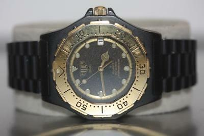 af026f1f9c80 Tag Heuer 3000 Series Professional 200M Black SS Gold Plated Bezel Watch  936.013 • 395.00