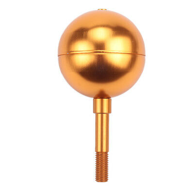 3  Gold Anodized Aluminum Flagpole Ball Ornament Flag Finial Pole Topper  • 10.68$