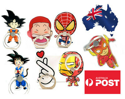AU9.99 • Buy Phone Finger Ring Holder Pop Stand Socket Ironman Hero Spiderman Cartoon Goku