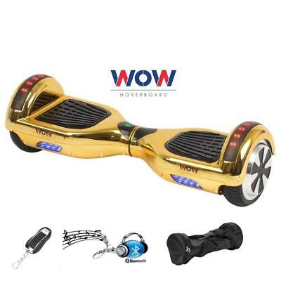 $ CDN229.99 • Buy Chrome GOLD Hoover Board 2 Wheel Electric Scooter Bluetooth Speaker LED Lights