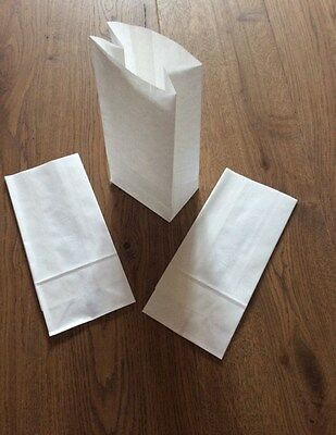 £3.50 • Buy White Kraft Paper Block Bottom Sweet Bags Small And Large
