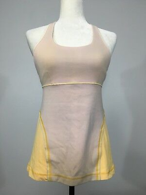 $ CDN35.66 • Buy Women's LULULEMON Size 10 Tank Top With Built In Sports Bra Yellow